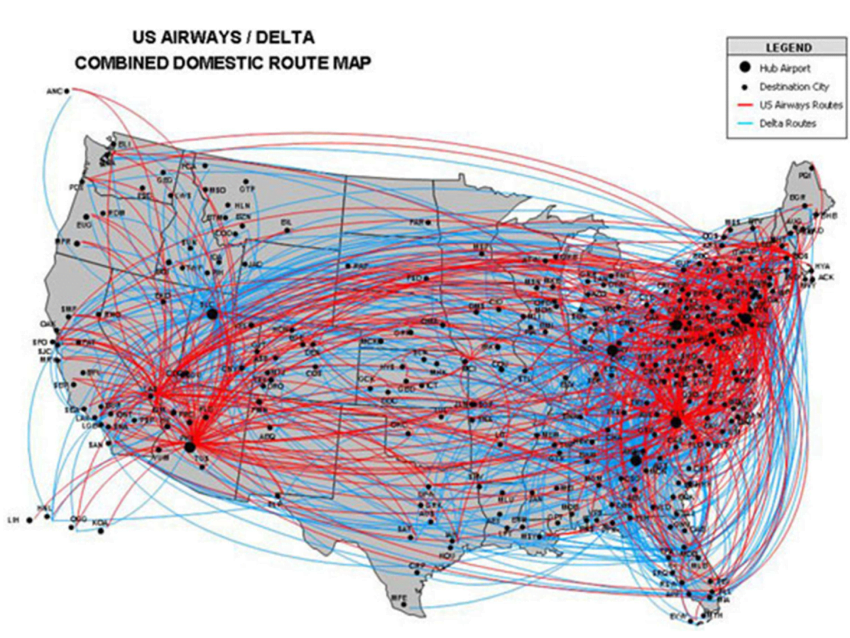 Delta Domestic Route Map