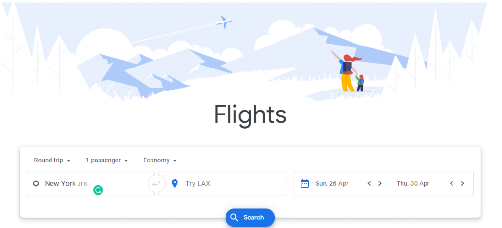 Google Flight USA